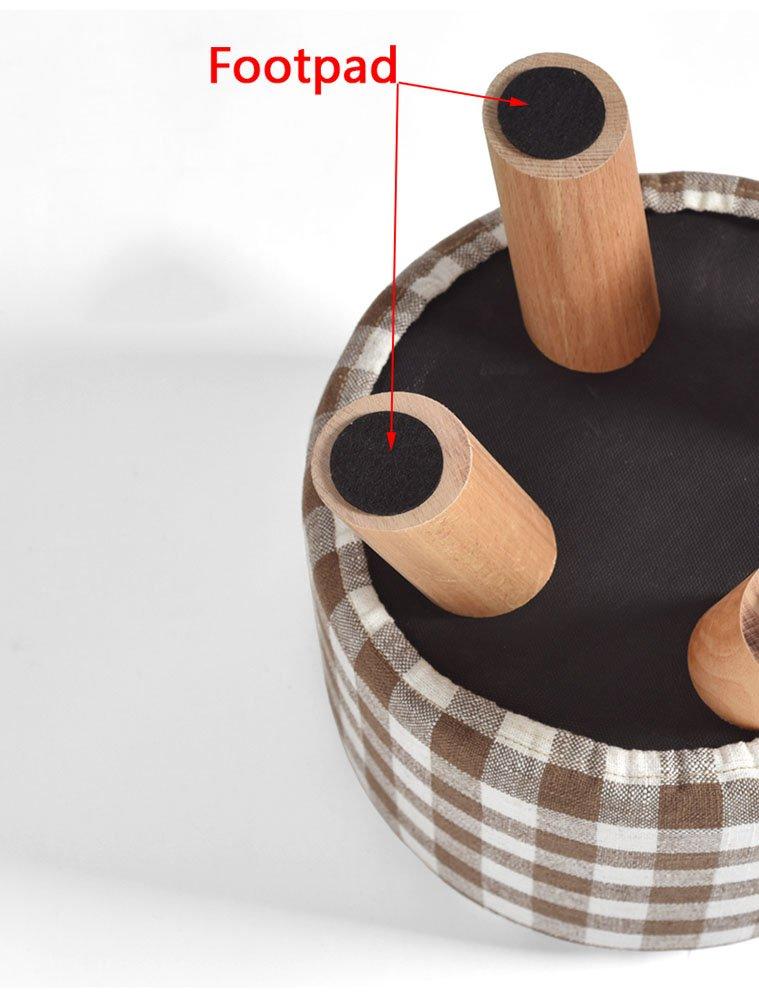 Hocker Stuhl aus Massivem Holz Tuch Kunst Drei Beine Kurz Wechsel ...