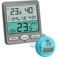 TFA Dostmann digitale draadloze zwembad thermometer VENICE, 30.3056.10, overdracht van watertemperatuur…
