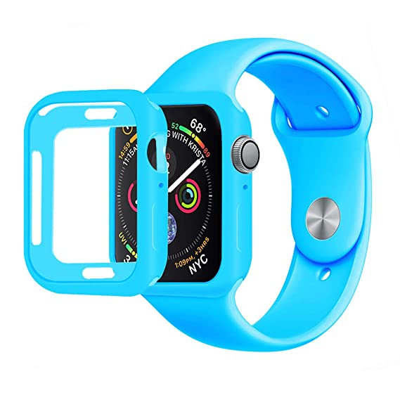 b4ec82c2d0ea6 Amazon.com  MENEEA for Apple Watch Series 4 Case Protector
