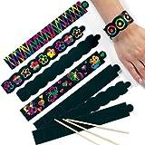 Lot de 12 Bracelets à gratter Scratch Art - Idéal comme cadeau de pochette surprise