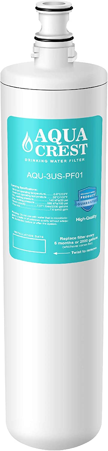 AQUA CREST 3US-PF01 Under Sink Water Filter, Compatible with Filtrete Advanced 3US-PF01, 3US-MAX-F01H, 3US-PF01H, Delta RP78702, Manitowoc K-00337, K-00338 Water Filter: Home & Kitchen