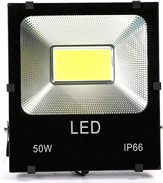Luces de inundación 50 W de exterior IP66 de aluminio aeronáutico impermeable a LED de pared para exteriores con sensor de movimiento: Amazon.es: Amazon.es