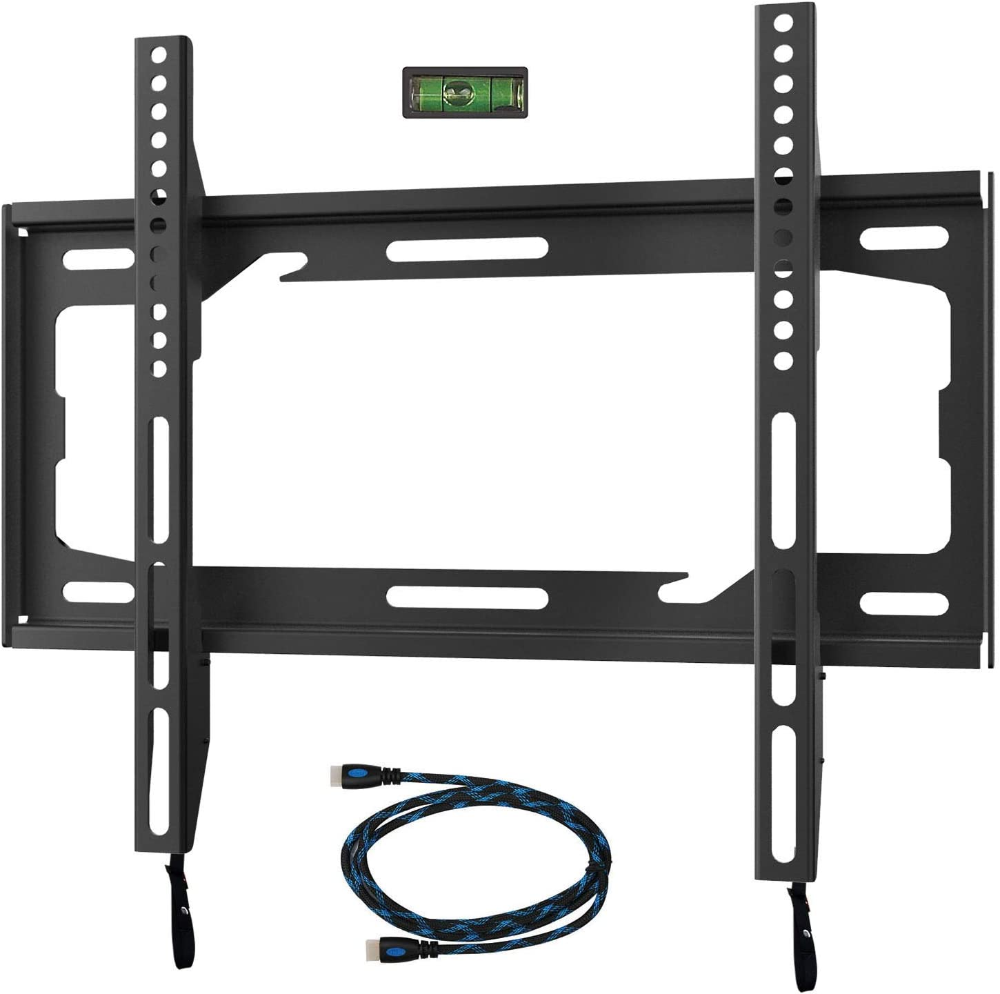 Wali Tv Wall Mount Bracket For Most 26 55 Inch Led Lcd And Plasma Flat Screen Tvs Vesa Up To 400x400mm 99lbs 45kg Weight Capacity Ttm 1b Black Electronics
