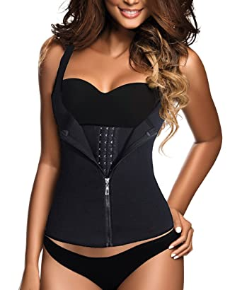 dc12d987ba GainKee Clip and Zip Waist Trainer Corset Women Neoprence Worked Out Sweat  Vest (X-