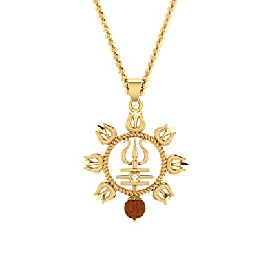 898aac031ba15 Voylla Pendant for Men (Golden)(8907617483955)  Amazon.in  Jewellery