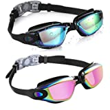 Aegend Swim Goggles, Pack of 2 Swimming Goggles No Leaking Anti Fog UV Protection Crystal Clear Vision Triathlon Swim…