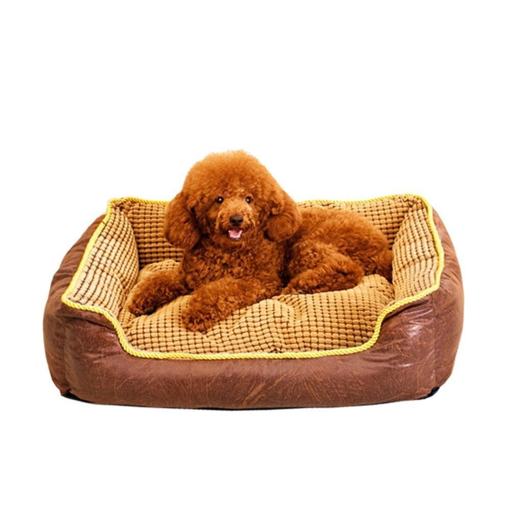 907522cm YunYilian Pet Bolster Dog Bed Comfort Cloth Washable Corn Dog Kennel pet nest (Size   90  75  22cm)