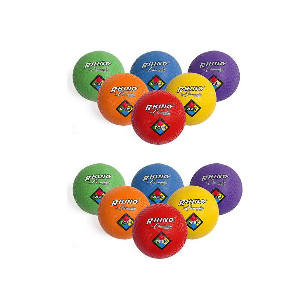Champion Sports Playground Ball Set (Nylon/Assorted Colors 12-Pack)