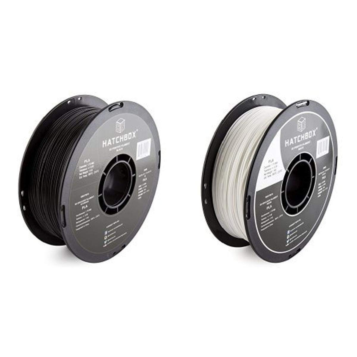 HATCHBOX 3D PLA-1KG1.75-BLK PLA 3D Printer Filament, Dimensional Accuracy +/- 0.05 mm