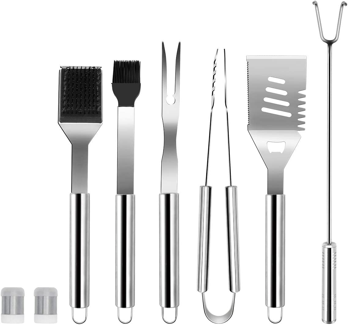 BBQ Grill ToolsSet Kit Stainless Steel Utensils 18 Accessories Outdoor Grilling