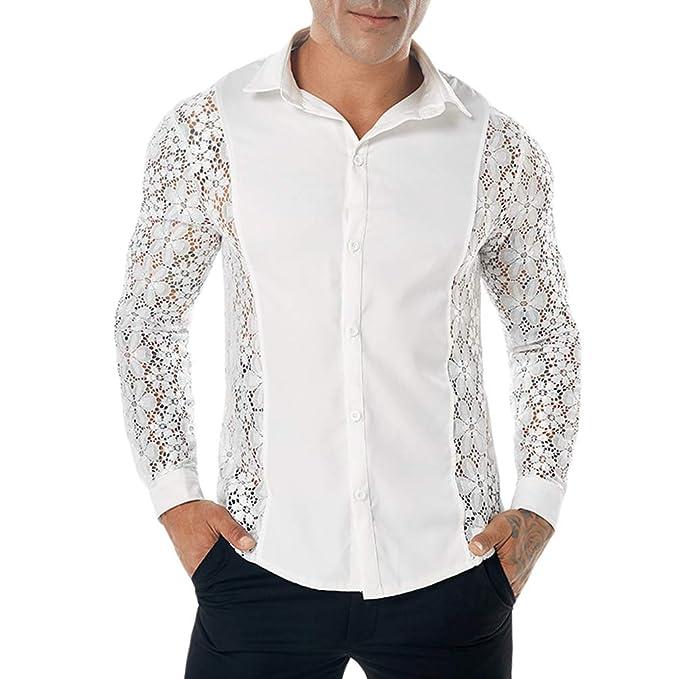 05cb1200 WanYangg Hombre Moda Otoño E Invierno Color Sólido Solapa Camisa De Manga  Larga De Brazo Completo