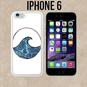 Wave Surf Summer Beach Custom made Case/Cover/Skin for iPhone 6 - White - Rubber Case (Ships from CA)