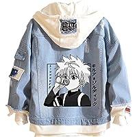 CTOOO Anime Hunter-X-Hunter Jeans Chaqueta Disfraz Cosplay para Hombres Y Mujeres, Sudadera Informal con Capucha…