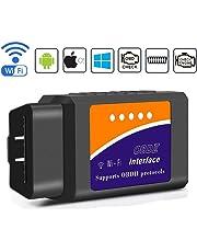 BANIGIPA Versión mejorada Coche WIFI OBD2 Escáner OBD II Escáner Lector de código Comprobar motor Luz Herramienta de diagnóstico para iPhone y Android Soporta Torque