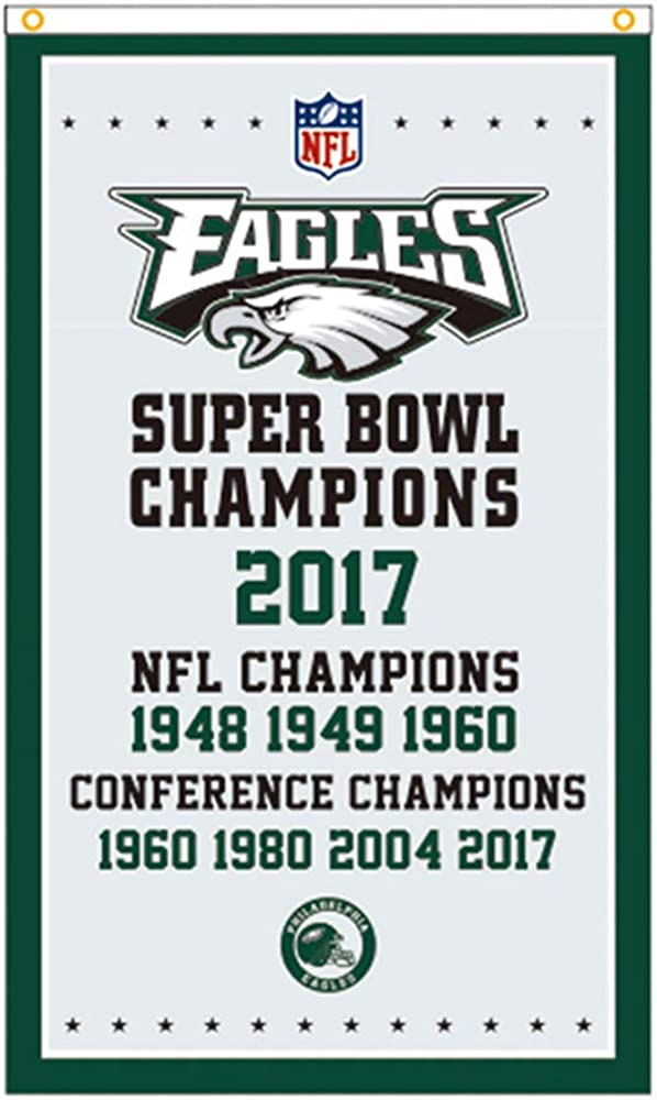 BestFlags 2017 Philadelphia Super Bowl Championship Garden 3x5 Flag Conference Champions Eagles Gifts Outdoor//Indoor Flags Banners