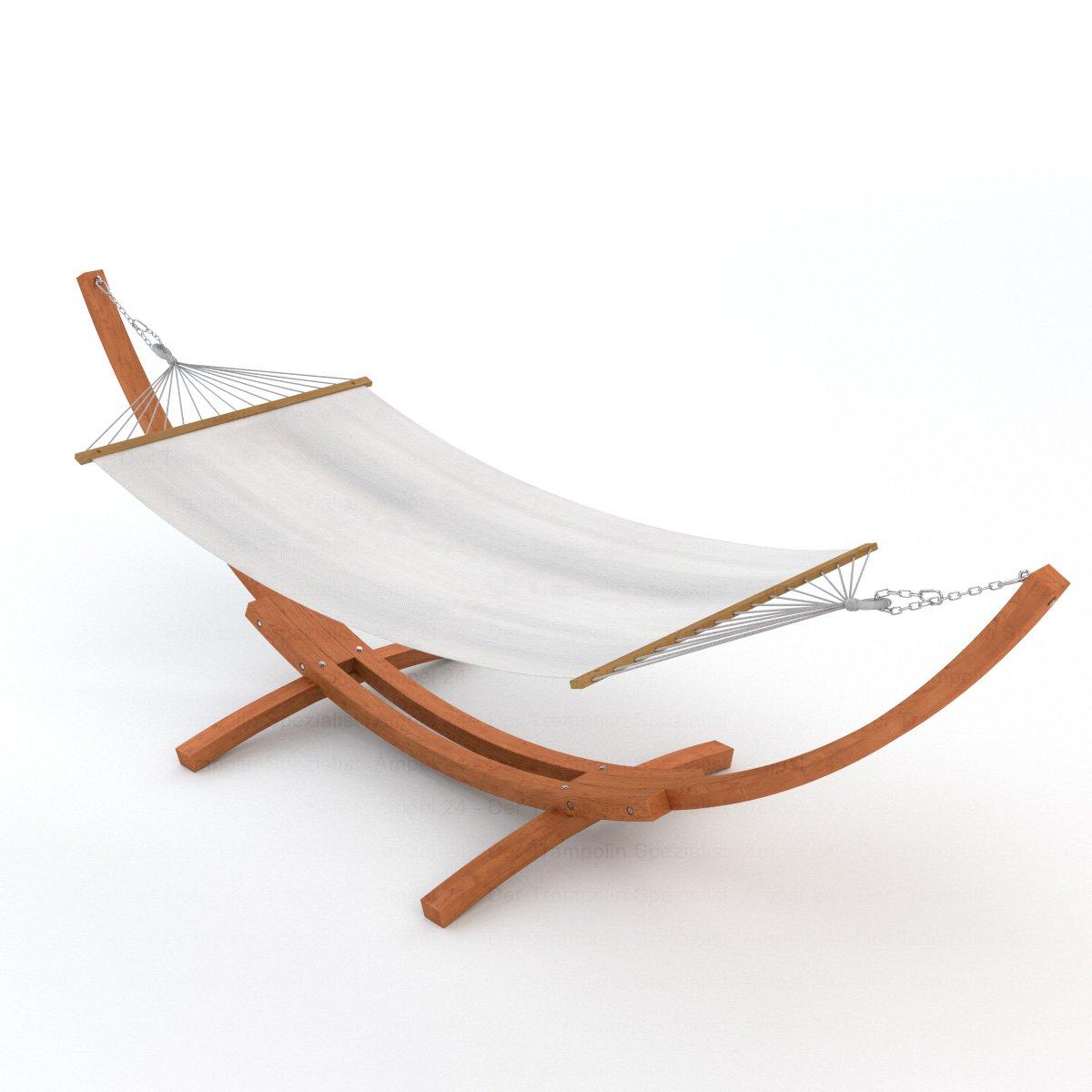 Amazon.de: Tectake® 400 Cm Xxl Hängematte Mit Gestell Holz + Dach ... Hangematten Mit Gestell Garten