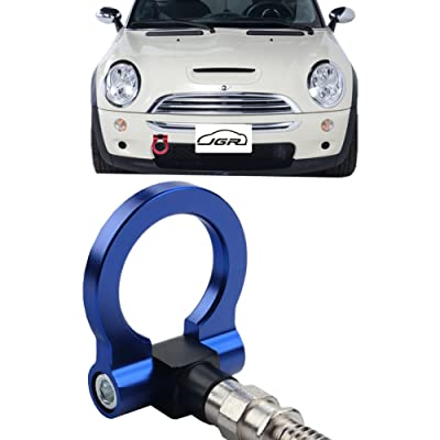 JGR Blue Front Bumper Tow Hook Bolt on Aluminum Sport Racing Accessories Tow Eye Hook Hinge for Mini Cooper R50 R51 R52 R53 R55 R56 R57 R58 R59 1st Gen & 2ed Gen: Automotive