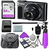 Canon PowerShot SX620 HS Digital Camera (Black) with 64GB SD Memory Card + Accessory Bundle