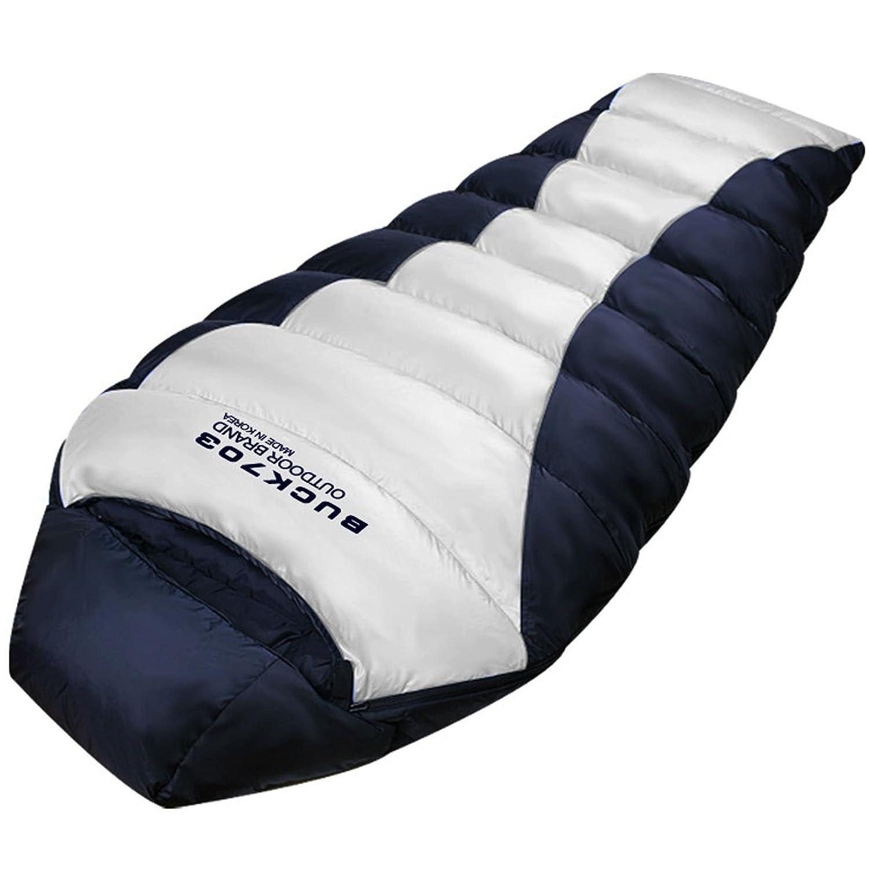 2 x l Goose Down Sleepingバッグ4seasonバックパッキングキャンプ軽量Mummy Ultra B01N5BYWIA