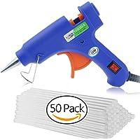 GiBot Mini Heißklebepistole mit 50 Stück Klebesticks Klebepistole für DIY Kleine Handwerkprojekte und schnelle Reparaturen zuhause im Heimwerker &Handwerk (blau, 20 Watt)