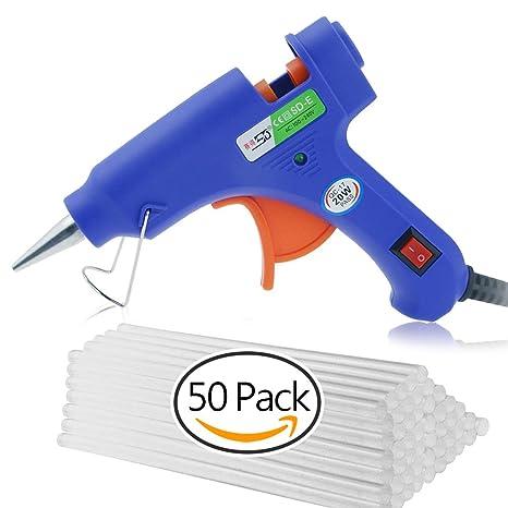 GiBot Mini Pistola De Silicona Con 50 piezas Barras de Silicona Pegamento Alta Temperatura Kit De Pistola De Pegamento Para Decoración DIY Reparación ...