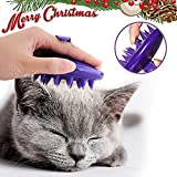 [Soft Silicone Pins] CELEMOON Ultra-Soft Silicone Washable Cat Grooming Shedding Massage / Bath Brush - Safe & No Scratching any more