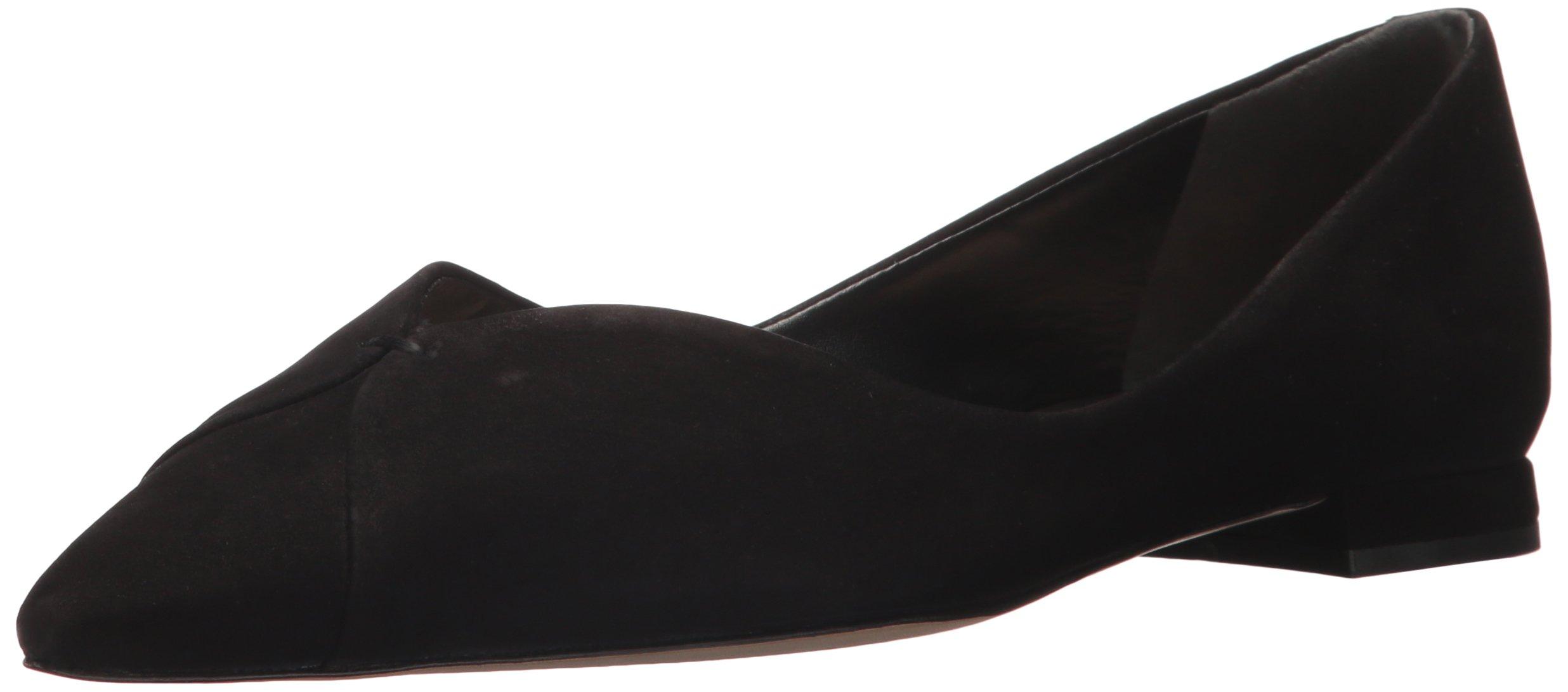 SCHUTZ Women's Sasha Ballet Flat, Black, 9.5 M US