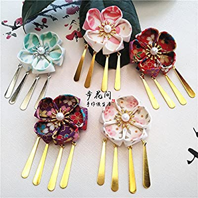 Custom (step) Japan imported original hand-wind Bourges cherry kimono-style bathrobe hanging pendant piece hair jewelry for women girl lady