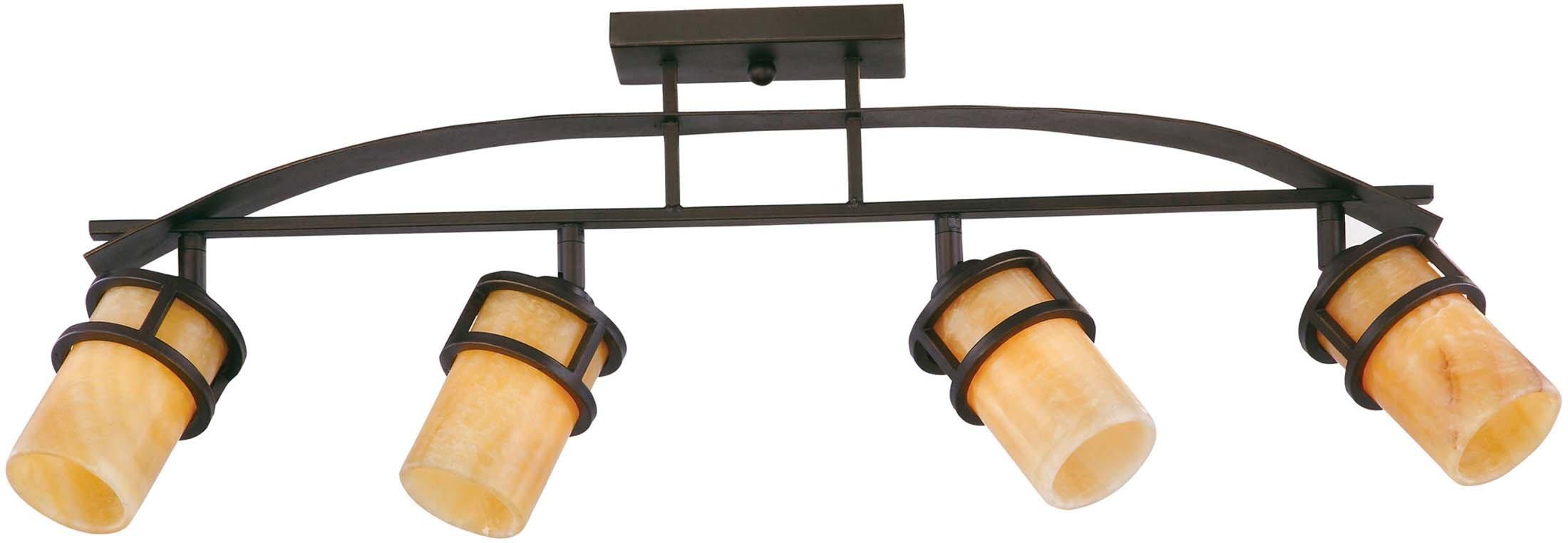 Quoizel KY1404IB Kyle Rustic Track Light Kit, 4-Light, 400 Watts, Imperial Bronze (15'' H x 36'' W)