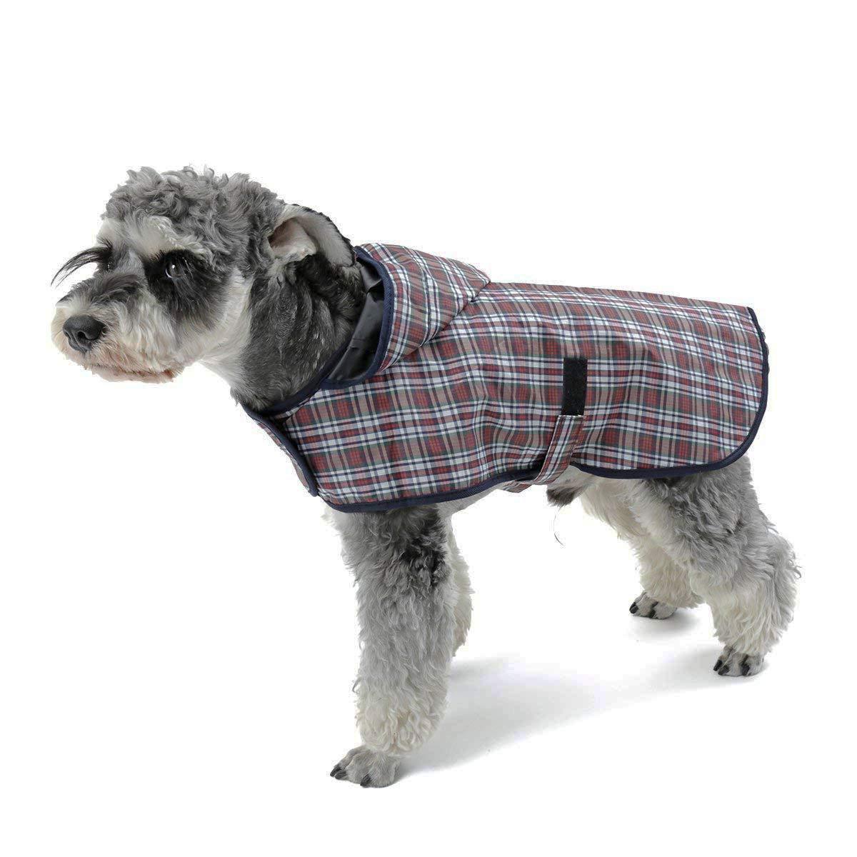 LEOFANS Haustier Hunde Regenmantel Regenjacke für Kleine Mittlere Hunde mit 4 Größen Wasserdicht