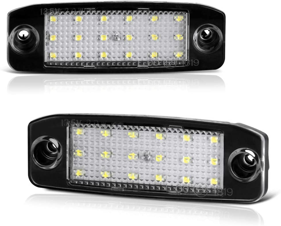 Vipmotoz Full Led License Plate Light Lamp Assembly Replacement For Hyundai Tucson Kia Sportage 6000k Diamond White 2 Pieces Automotive Amazon Com