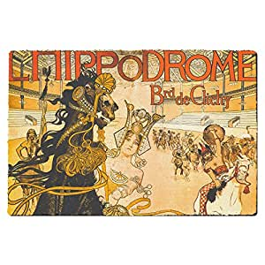 Hippodrome French Art Deco Door Mat - Large Door Mat - Indoor Neoprene