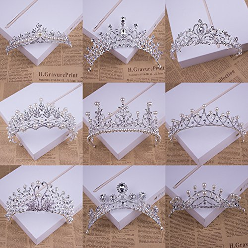 Quantity 1x new_ Korean Crown Tiara Party Wedding Headband Women Bridal Princess Birthday Girl Gift head Ornaments ,_China,_JapanKorea,yoke_ Bridal Hair Ornaments _hair- comb card_ tray Hair clip hair