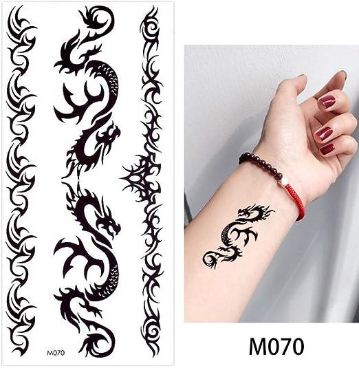 adgkitb 4 Piezas Pulsera Cadena Tatuaje Temporal Etiqueta inglés ...
