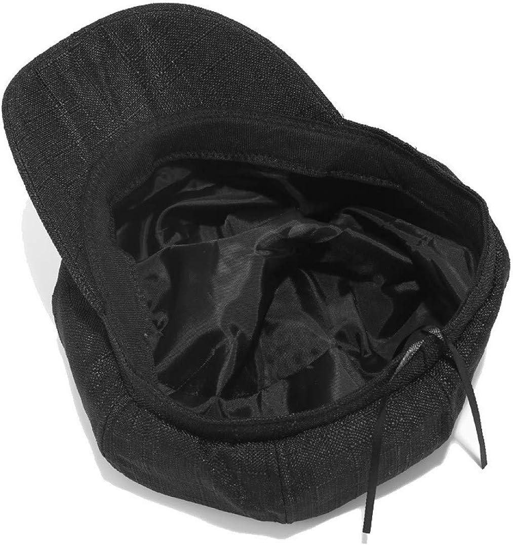 Vintage Style Womens Newsboy Cap 8 Panel Cabbie Caps Outdoor Cotton Linen Blend Beret Hat