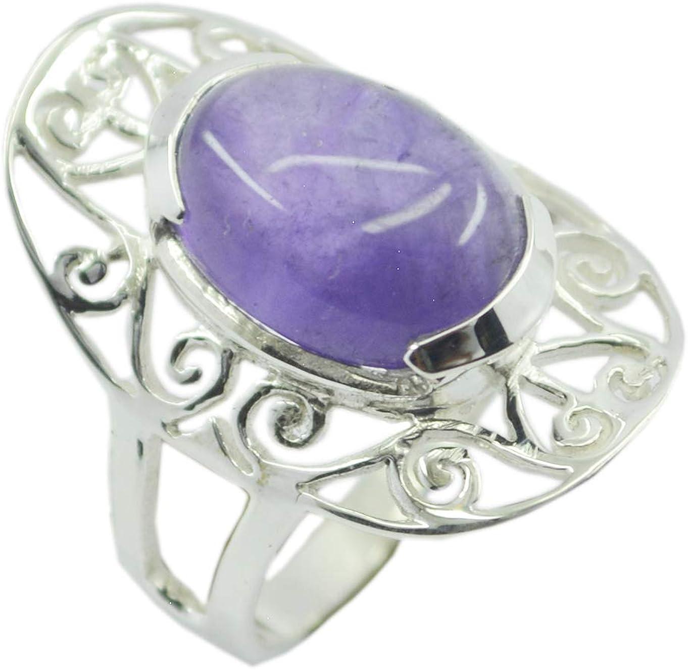 Amethyst Purple Gems Silver Ring Wholesale 925 Sterling Silver fair Genuine Purple Ring