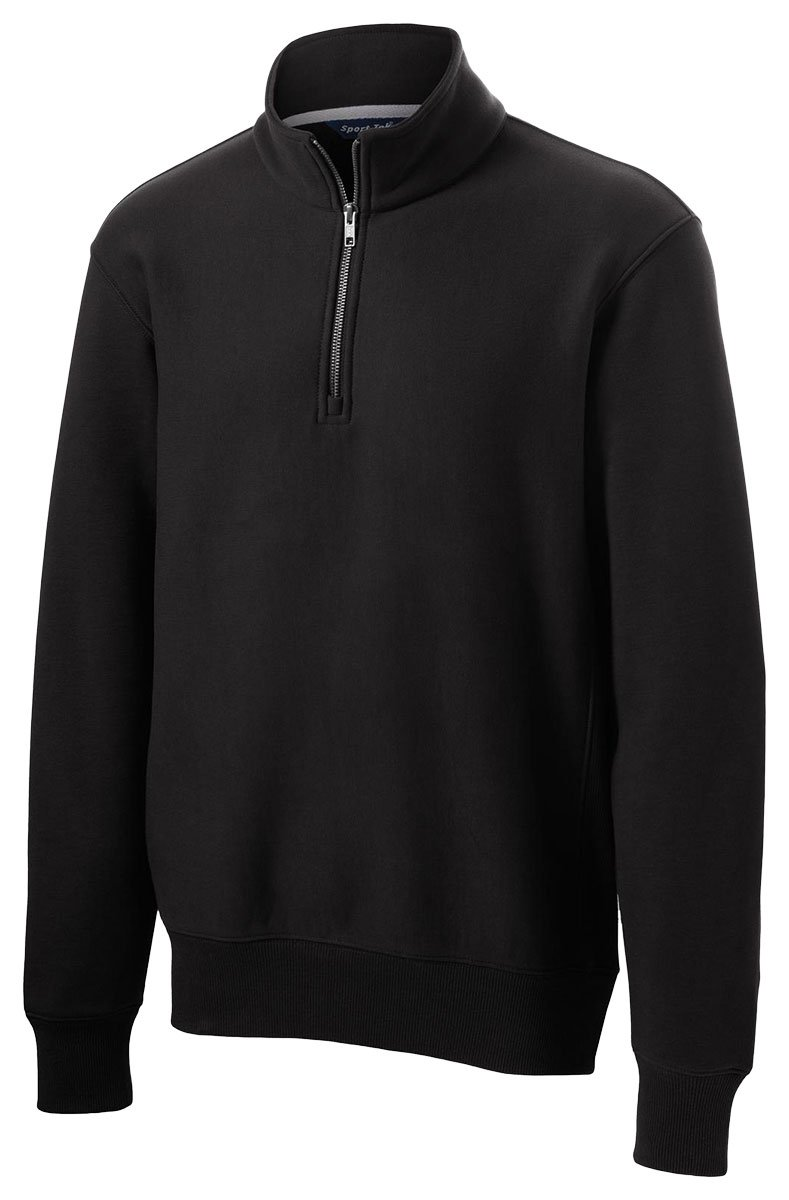 Sport-Tek Men's Super Heavyweight 1/4 Zip Pullover Sweatshirt XS Black by Sport-Tek