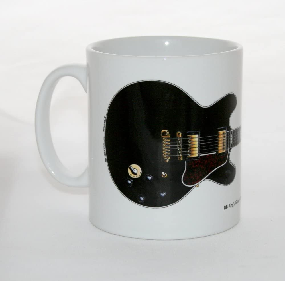 George Morgan Illustration Taza de Guitarra Gibson ES-355 Lucille ...