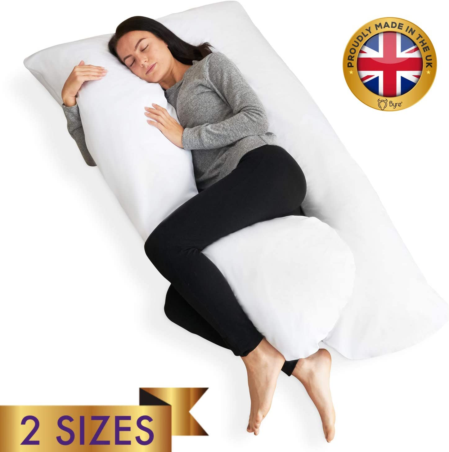 Blue Victostar Pregnancy Pillow U Shaped Full Body Maternity Pillow for Pregnant Women with Washable Premium Cover Size 57