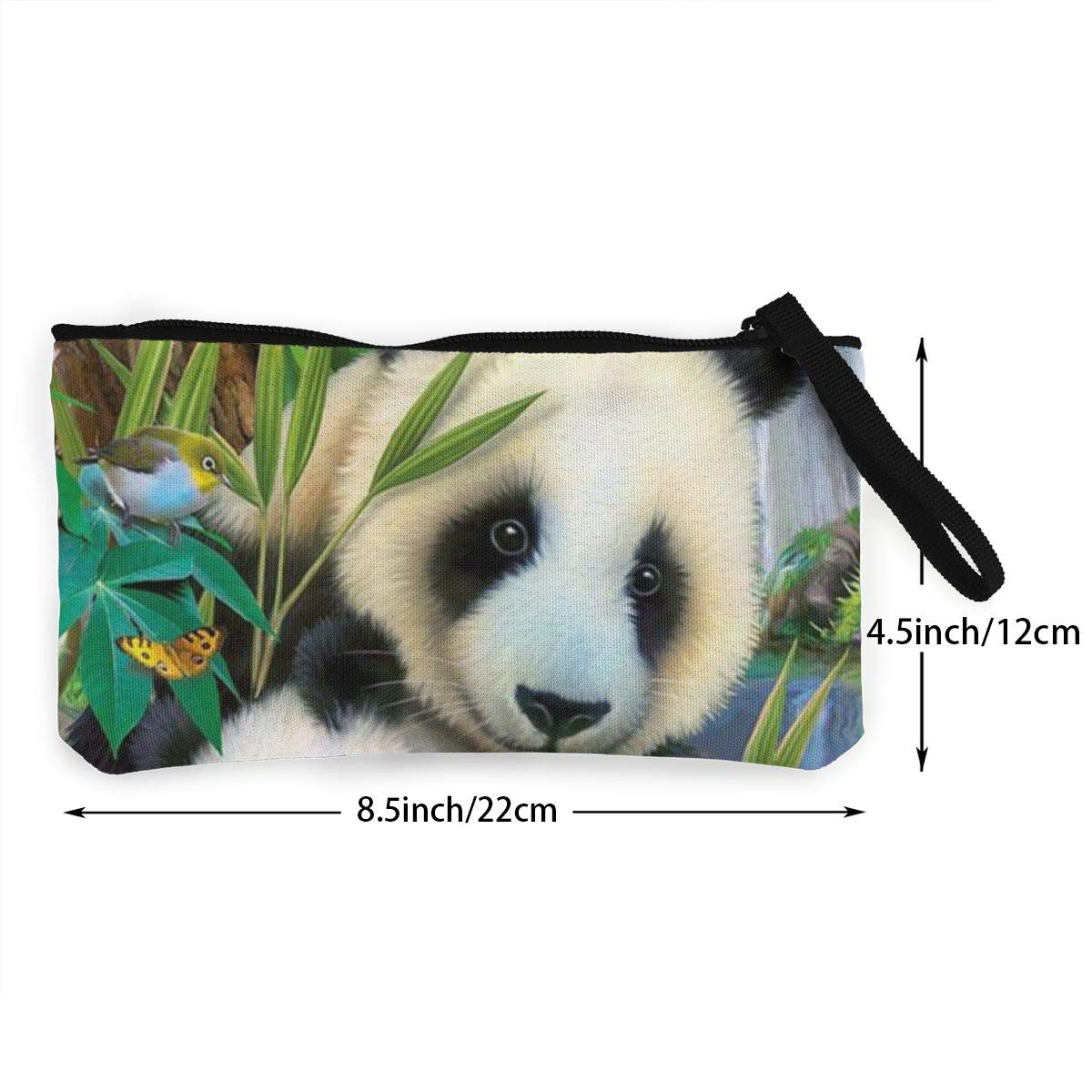 Precious Pandas Womens Canvas Coin Purse Mini Change Wallet Pouch-Card Holder Phone Wallet Storage Bag,Pencil Pen Case