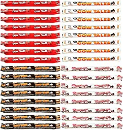 Goetze\'s Cow Tales 1oz Variety Pack of 32 Strawberry Chocolate Caramel Apple and Vanilla
