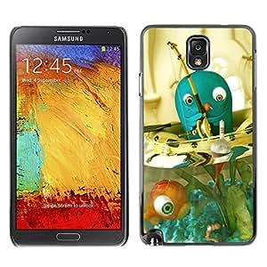 For SAMSUNG Galaxy Note 3 III / N9000 / N9005 Case , Blue Fish Bowl Pet Fishing Fisherman - Diseño Patrón Teléfono Caso Cubierta Case Bumper Duro Protección Case Cover Funda