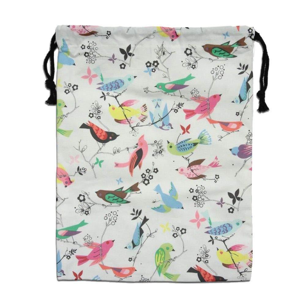 CMTRFJ Personalized Drawstring Bag-Summer Bird Holiday/Party/Christmas Tote Bag