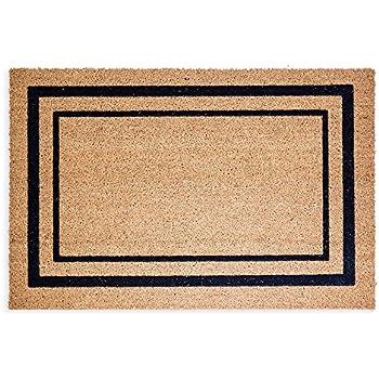 Amazon Com Black Border Coco Coir Doormat Heavy Duty