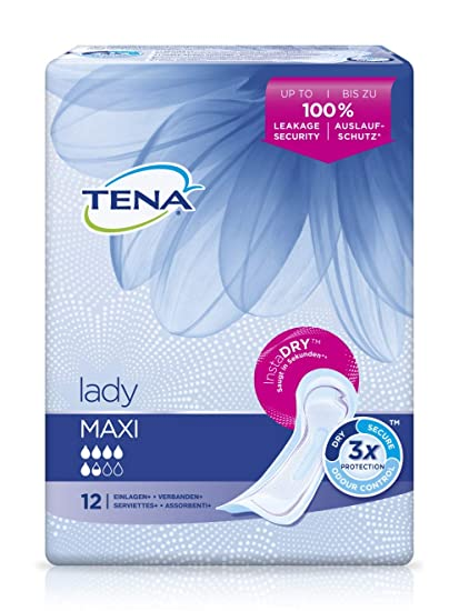 Tena Protections Pour Incontinence Lady Maxi X 12 Amazonfr