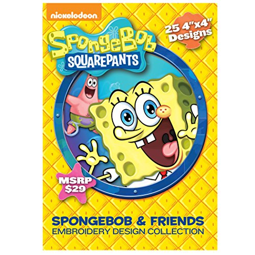 Brother Sewing Nickelodeon SANICKSB SpongeBob SquarePants Embroidery Design Collection CD