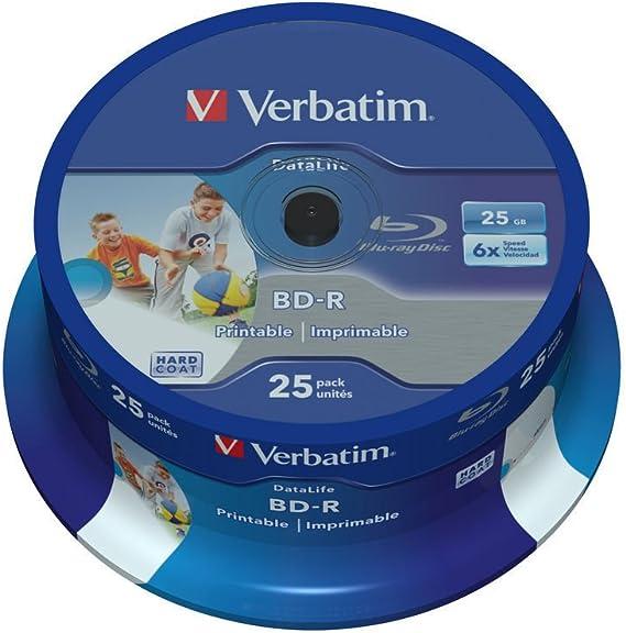Verbatim 43811 25gb Bd R Sl Datalife 6x Inkjet Computers Accessories