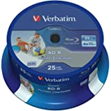 Verbatim 43811 25GB 6x BD-R SL Datalife jet d'encre imprimable - 25 Pack Spindle