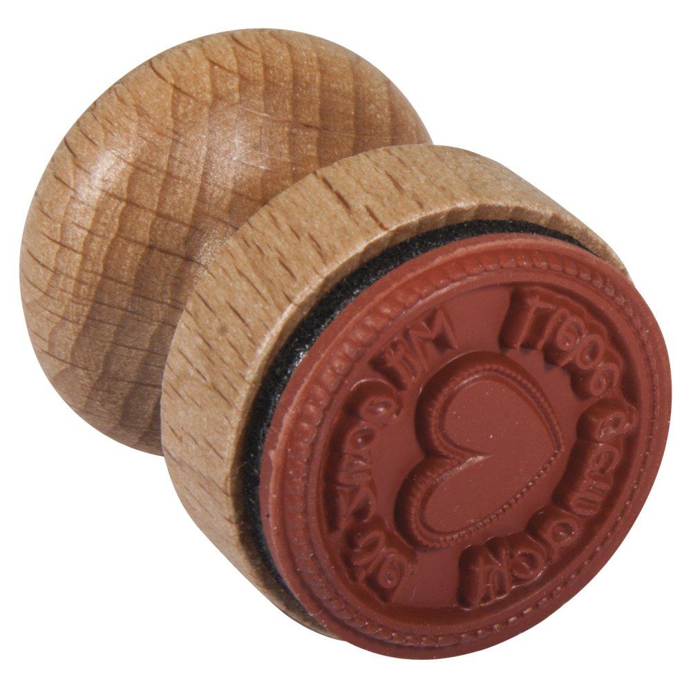 Rayher Hobby 28855000 Stempel mit Liebe, Durchmesser 3 cm