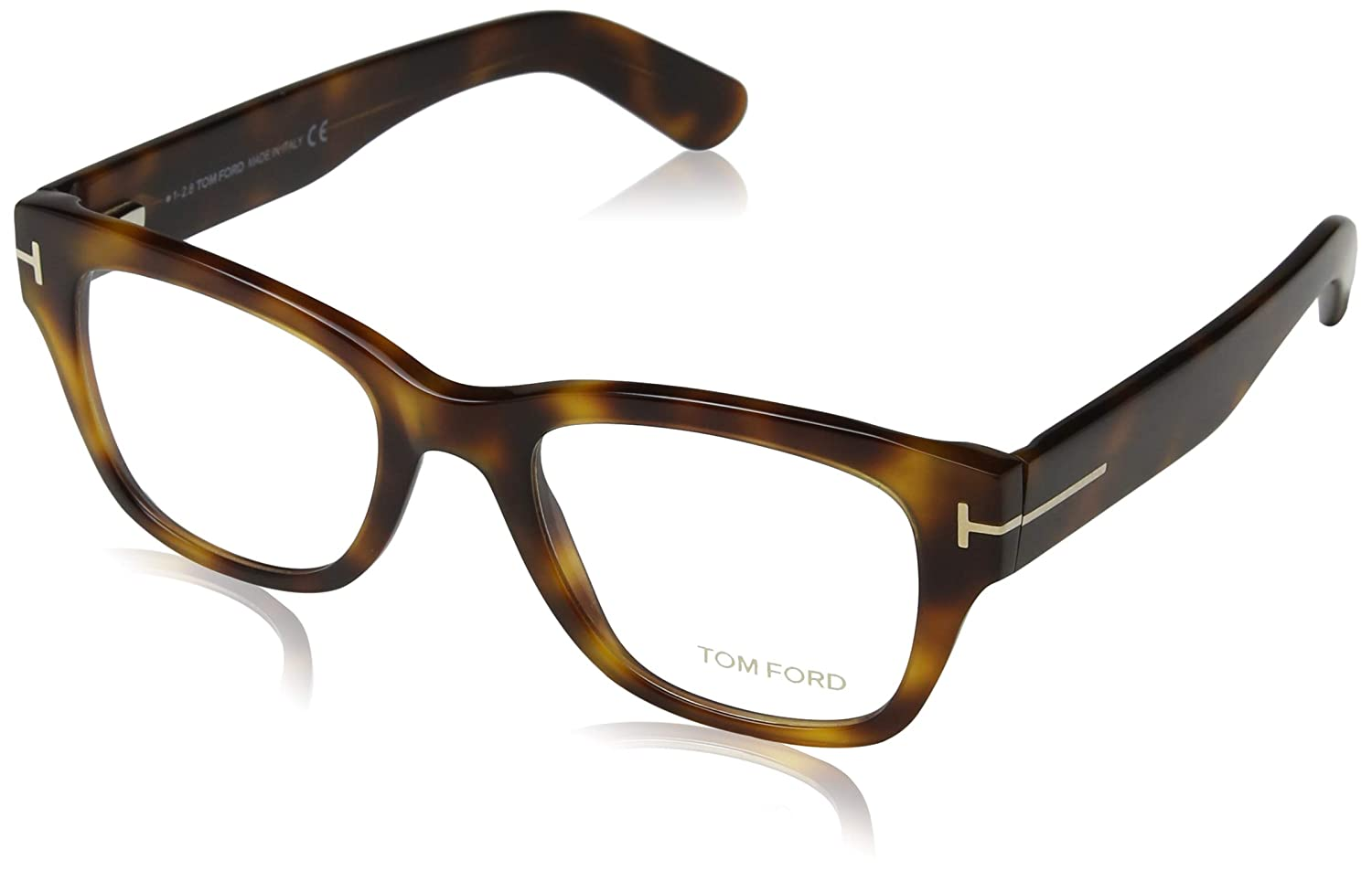 adb8d3b449 TOM FORD Eyeglasses FT5379 052 Dark Havana 51MM at Amazon Men s Clothing  store